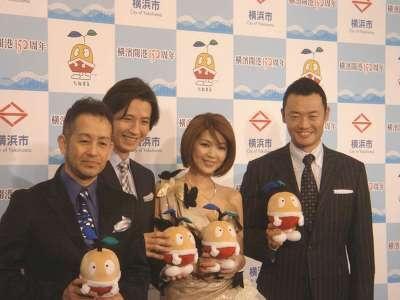 右から、中田 宏横浜市長、飯島直子、谷原章介、宮本亜門