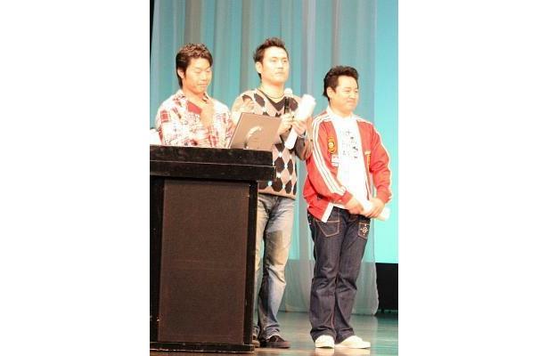 入院中の先輩・松村さんにエールを送ったインスタントジョンソン。立派に代役を務めた