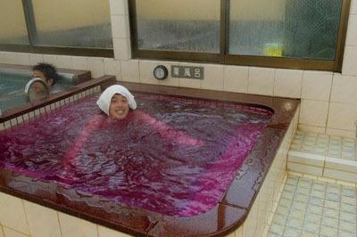 薬風呂でお肌スベスベ