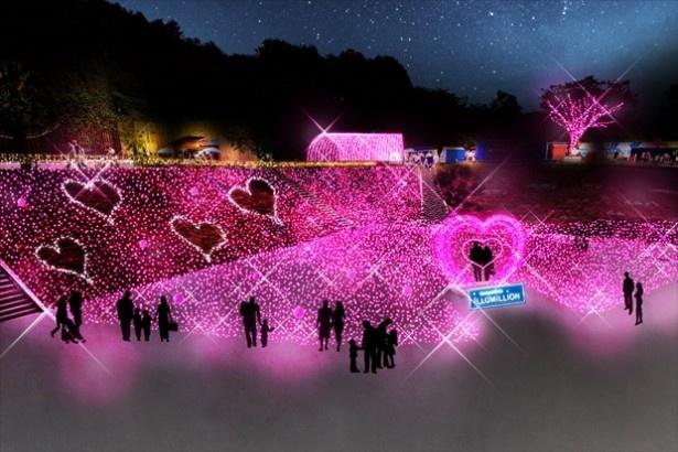 【写真を見る】会場がピンク一色に包まれる!