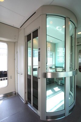 全席禁煙なので完全個室の喫煙室が設けられいる。喫煙者にはうれしい設備!