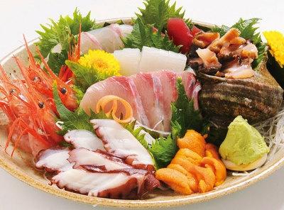 どてやの「日替わりの鮮魚盛り合わせ」1000円から