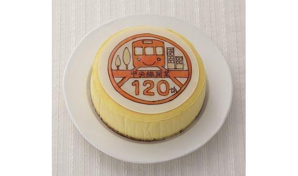 食べられる鉄道プレートが乗った「フロマージュKIRI」(1800円)は濃厚な味