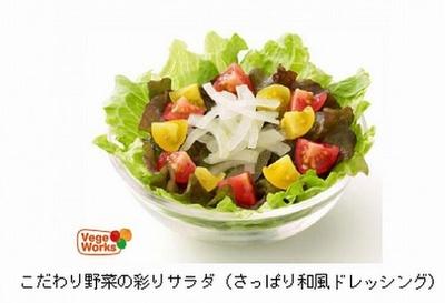 こだわり野菜の彩りサラダ さっぱり和風ドレッシング