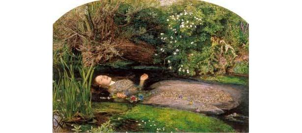 《オフィーリア》1851-52年 油彩・キャンヴァス テート蔵