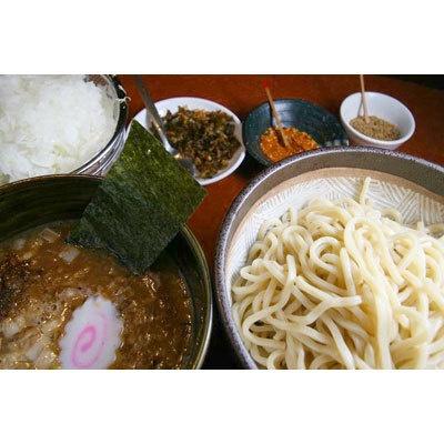 【つけ麺 もといし】「つけ麺」(¥780)。麺は基本で300g。麺を少なめにすると「味付半熟玉子」または「温野菜」がサービスとして付く