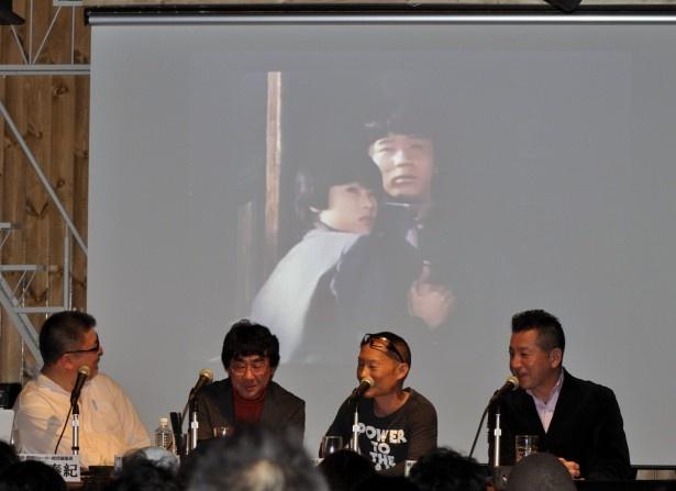 イベントでは、紹介した角川映画の予告編も流し、来場者と懐かしい映像を見る。映像が流れると歓声が上がる!