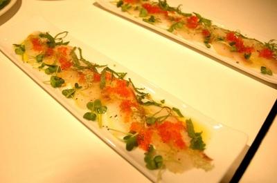 メニュー)白身魚のカルパッチョ~和風昆布仕立て