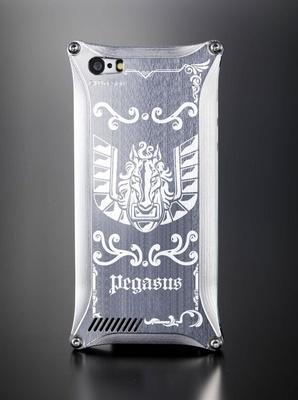 青銅聖衣ペガサスのシルバーiPhoneカバー