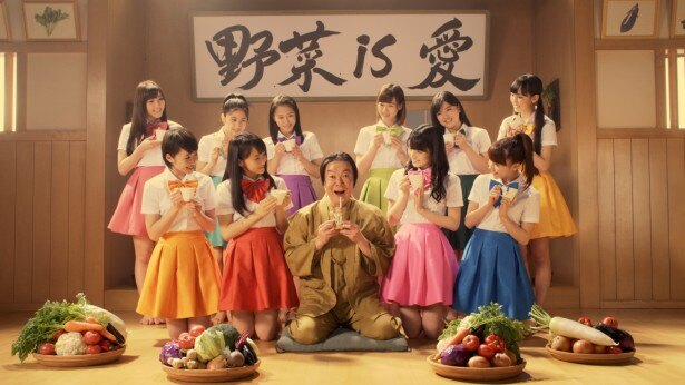 6月7日(土)から放送が開始されるカゴメ「野菜一日これ一本」のCM『これイチ 名言野郎~全力野菜娘。/フチ子さん』篇