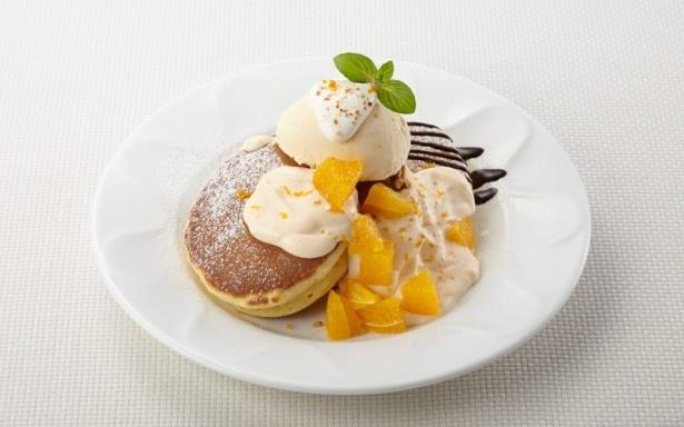 オレンジクリームパンケーキ(599円)