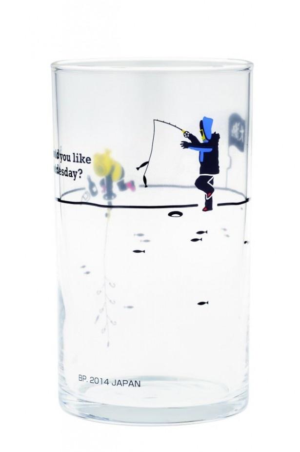 F賞のデザイングラス「釣りバカ対決!わかさぎ釣り2」