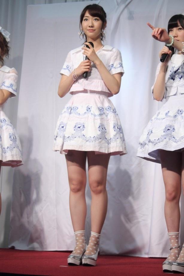 「AKB48選抜総選挙ミュージアム」オープニングセレモニーに登場した柏木由紀