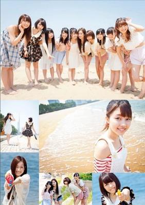 LinQのメンバーがビーチで大はしゃぎ!