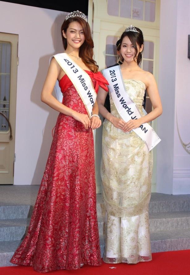 ミス・ワールド2013の田中道子、Vanriもカーペットに華を添えた