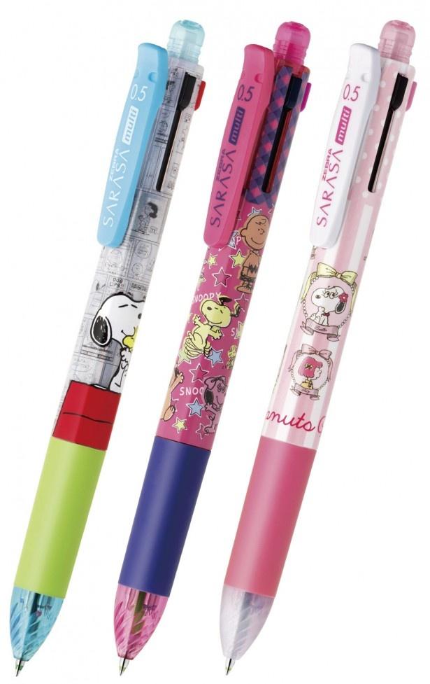 数量限定で発売される多機能ペン「サラサマルチ×スヌーピー」