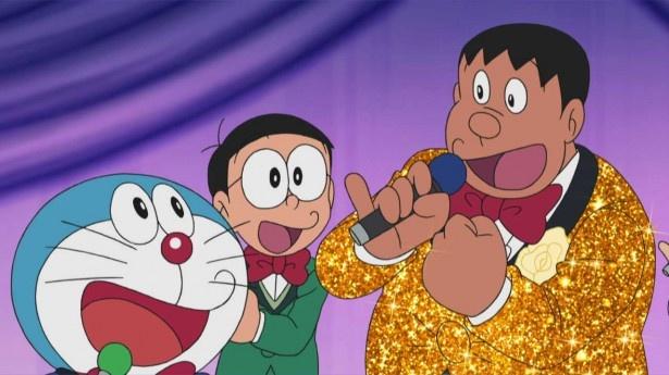 「ドラえもん」の人気キャラクター・ジャイアンが『たけしのズンドコ節』を熱唱!