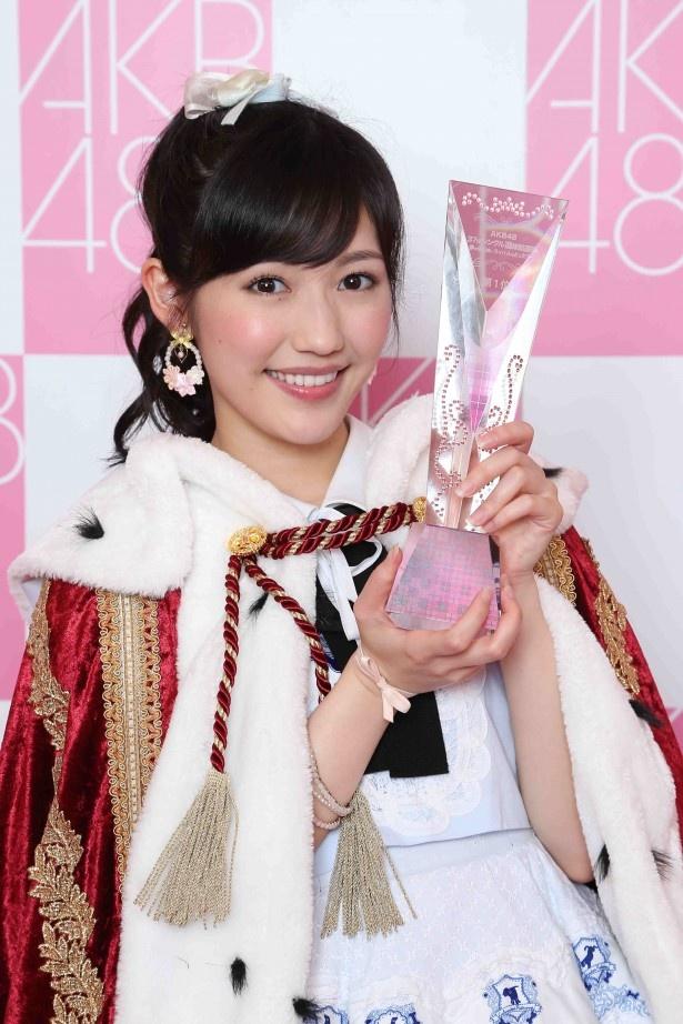 ファンに対し、「AKB48グループは、わたしが守ります!」と語った渡辺