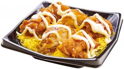 直前にかけるタルタルソースと南蛮ダレが合う「鶏から 南蛮丼」