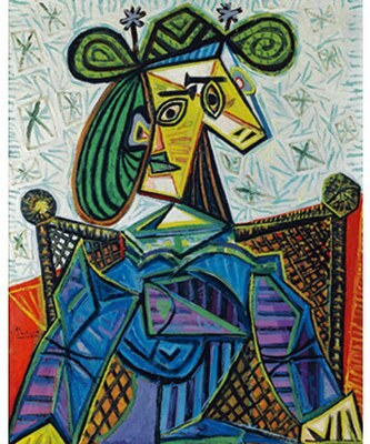 パブロ・ピカソ「ひじかけ椅子に座る女」1941年油彩・キャンヴァス