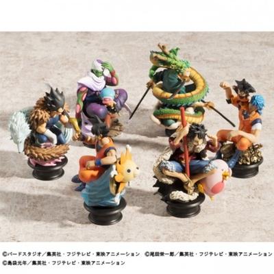 「ドラゴンボール改」「ワンピース」「トリコ」の人気キャラクターたちのコラボレーションフィギュア
