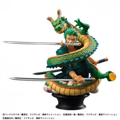 「ワンピース」のロロノア・ゾロと「ドラゴンボール改」の神龍