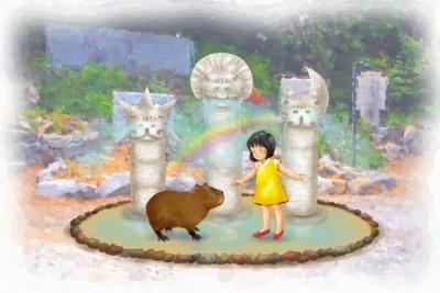 「カピバラ虹の広場」のイメージ図