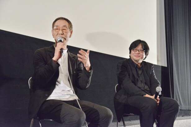 トークショーを行った細田守監督、杉井ギサブロー監督(写真右から)