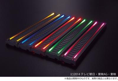 横に並べたレインボーラインが虹のように輝く