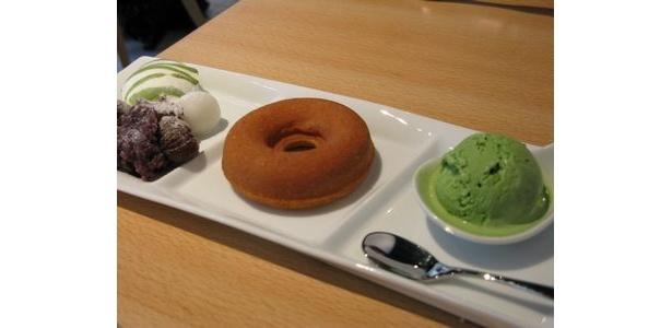 抹茶アイスとつぶあん和風ドーナツ 1300円