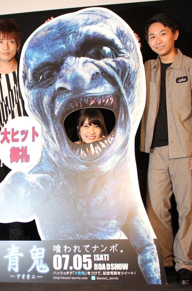 『青鬼』の舞台挨拶に登場したAKB48の入山杏奈