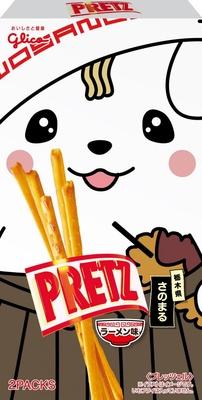あっさりした醤油味が後をひく「ご当地キャラクタープリッツ 栃木県 さのまる」(ラーメン味)