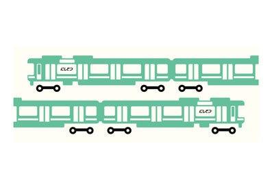 ゆるカワイイ西鉄電車柄オリジナル手ぬぐいは全2種類