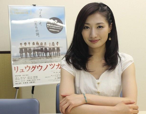 宣伝中の武田梨奈