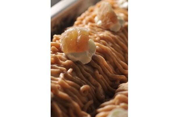 栗のつぶつぶ食感がおいしいモンブラン(オレンターノ イル ジェラート)