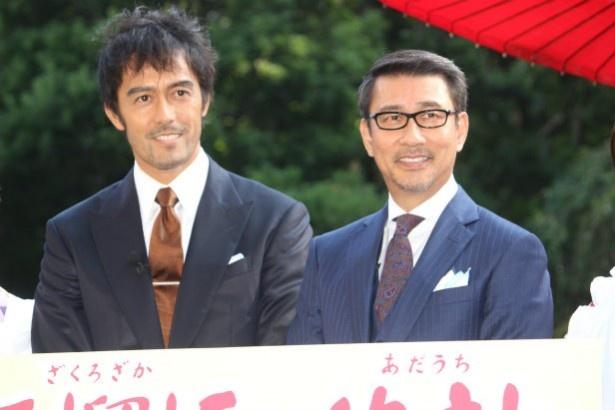『柘榴坂の仇討』で共演した中井貴一と阿部寛