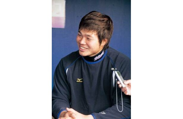パワーが魅力の吉村選手。バックスクリーン直撃弾を!!