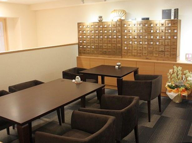 「香源香カフェ」2階では、お香の制作を体験できる企画も予定している