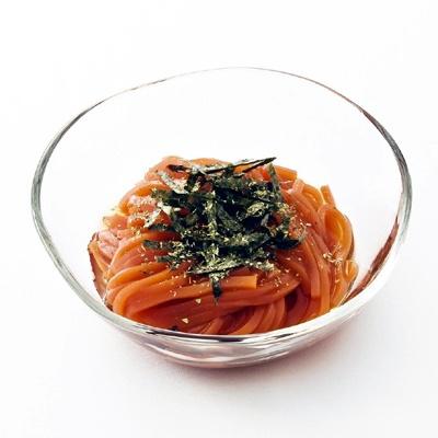 「銀座鹿乃子」の「風味野菜の創作トマトところてん」(420円)銀座三越限定 意外なコラボがおいしかったりする