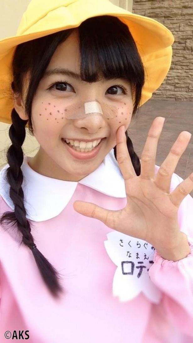 岡田栞奈の幼稚園服