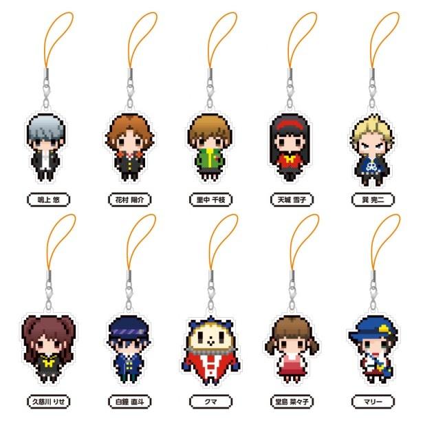 【写真を見る】「ペルソナ4」キャラクターのストラップは全10種類を発売!