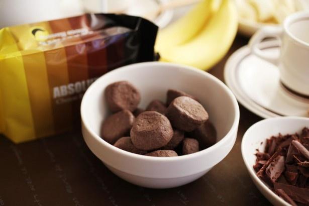 バナナにチョコレートを染み込ませた新感覚スイーツ「ABSOLUTE チョコバナナ」(税抜380円)