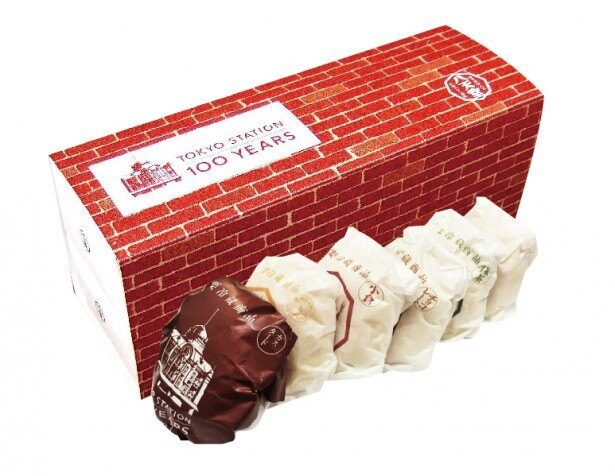 限定パッケージに京葉ストリート限定の金のくりーむパンが入った八天堂「くりーむパンギフトBOX(6個入り)」(1500円)(京葉ストリート)