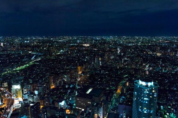 オーシャン カシータからは、東京都と埼玉県の夜景が同時に楽しめる。「県境の夜景をこれだけはっきり見られるスポットは全国でもかなり珍しい」と丸々氏