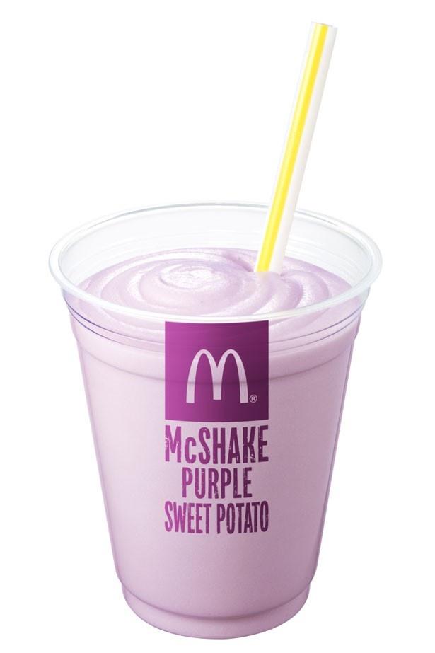 色鮮やかな見た目と濃厚な風味が味わえる「マックシェイク 紫いも」