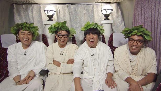 暴走気味(?)のアドリブを展開する劇団ひとりに、観覧ルームのおぎやはぎ&バナナマンも呆れる!?