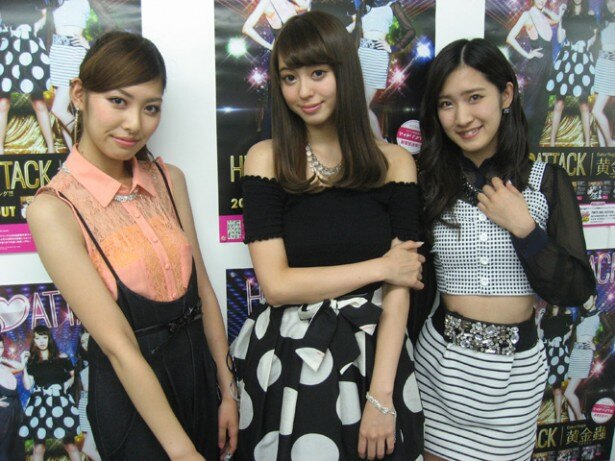 「HIP♡ATTACK from アイドリング!!!」の(写真左より)橘ゆりか・大川藍・橋本楓