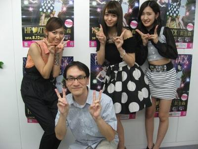 2014年8月13日、ポニーキャニオン大阪営業所にて。