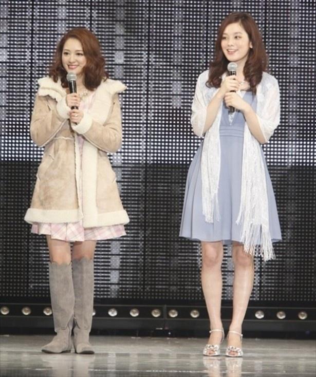 「テラスハウス」で共演していた筧美和子(右)とchay(左)