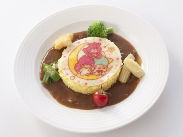 「サフラン風味のリゾット カレーソース 彩り野菜添え」/キキ&ララ×ケアベア カフェ@スイーツパラダイス